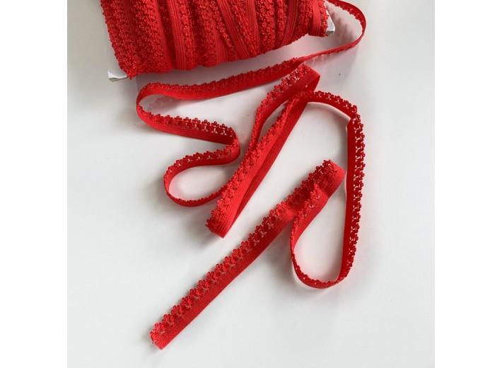 Резинка бельевая ажурная 12 мм Красный