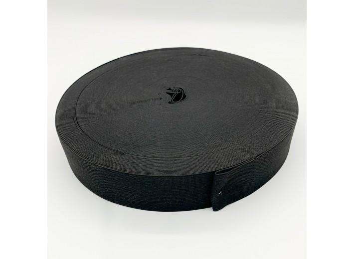 Резинка вязаная 50 мм Черный - упаковка 50м