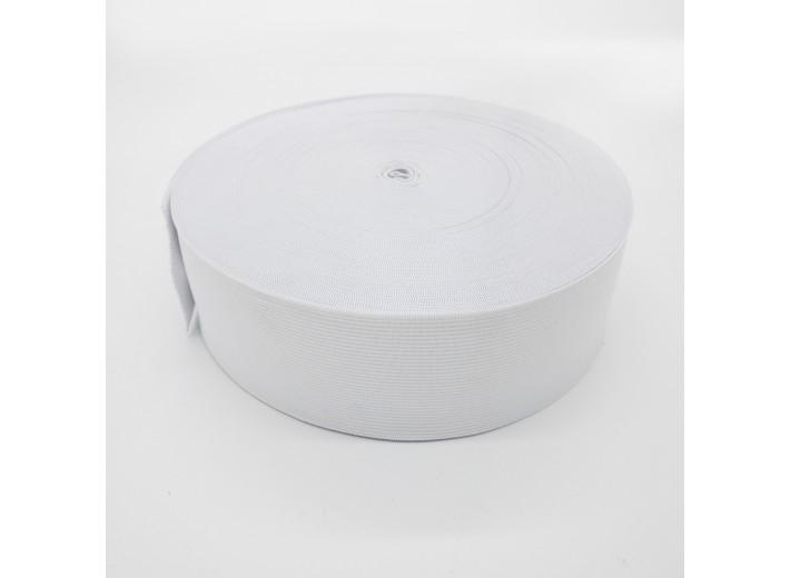 Резинка вязаная 40 мм Белый - упаковка 50м