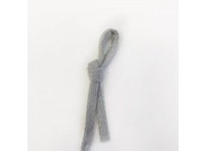Шнур плоский 10 мм Серый 100% х/б