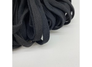 Шнур 12 мм Черный мягкий 100% х/б