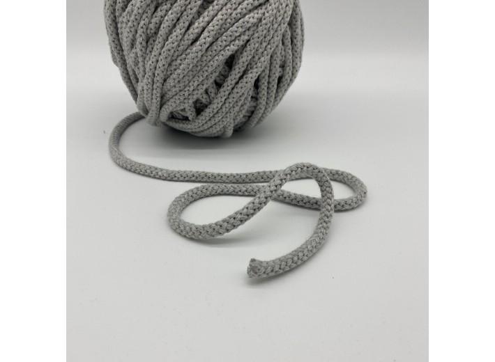 Шнур круглый 10 мм Серый 100% х/б