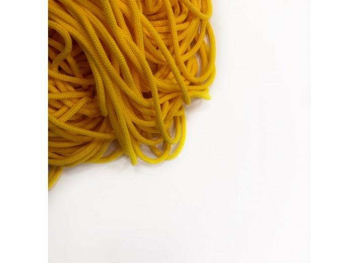 Шнур круглый Желтый яркий 5 мм мягкий