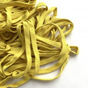Шнур 10 мм плоский плетеный Желтый 100% х/б