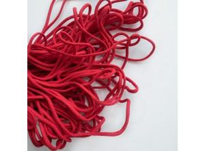 Шнур 4,5 мм круглый плетеный с наполнителем Красный 100% х/б