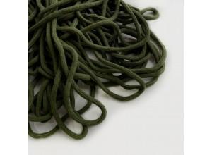 Шнур 6 мм круглый мягкий плетеный с наполнителем Оливка 100% х/б