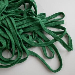 Шнур 10 мм плоский плетеный Зеленый 100% х/б