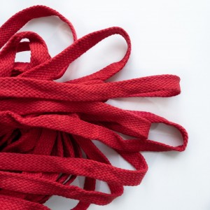 Шнур 15 мм плоский плетеный Красный 100% х/б