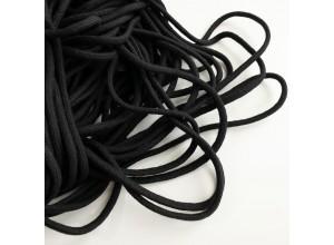 Шнур 5 мм круглый плетеный с наполнителем Черный