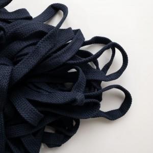 Шнур 15 мм плоский плетеный Темно-синий 100% х/б