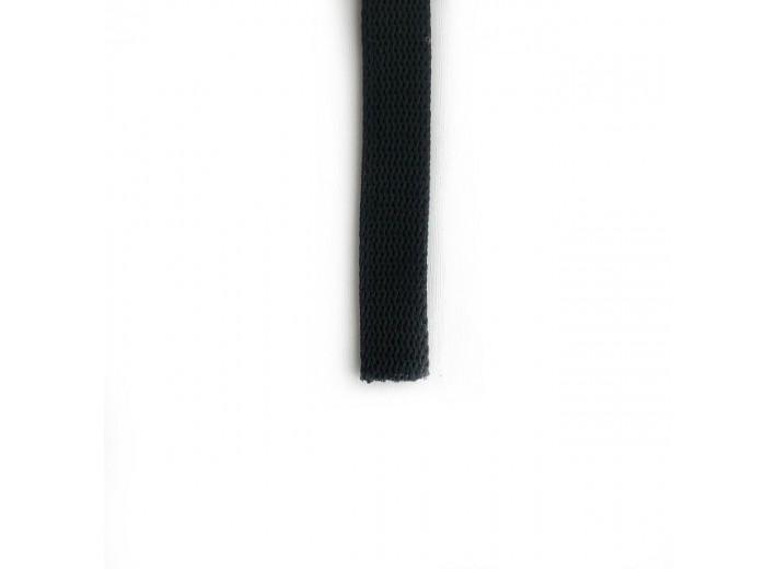 Шнур плоский 15 мм Черный