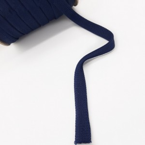 Шнур плоский 15 мм Темно-синий