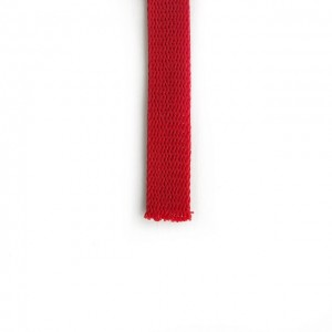 Flat cord 15 mm Red