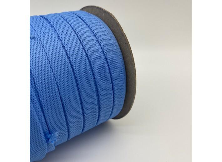 Шнур плоский 15 мм Голубой