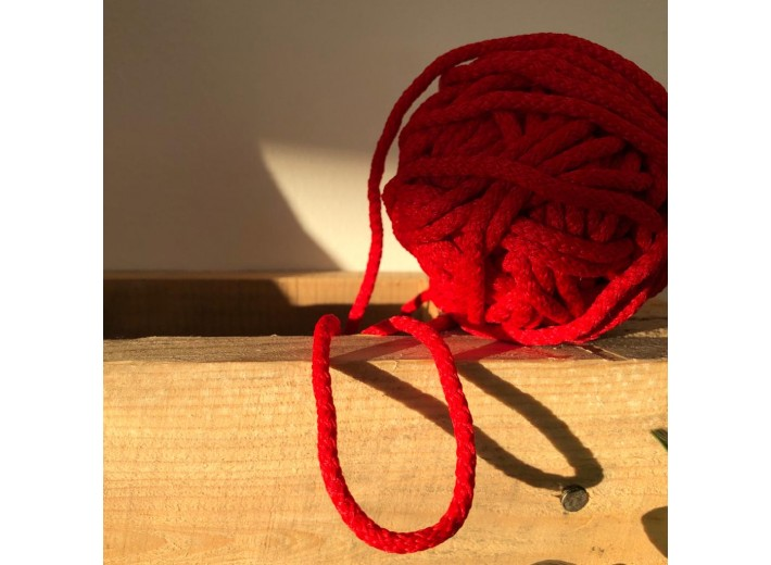 Шнур круглый 5 мм Красный