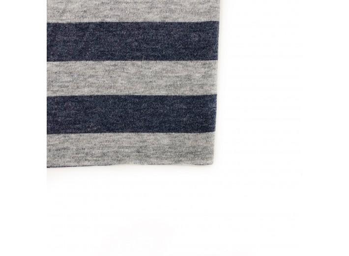 Вязаный трикотаж полоска Синий/Серый (280 г/м2)