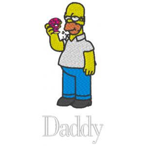 """Вышивка """"Гомер с пончиком"""""""