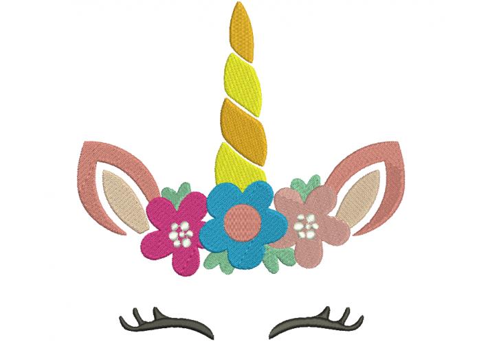 """Вышивка """"Единорог с цветами"""""""