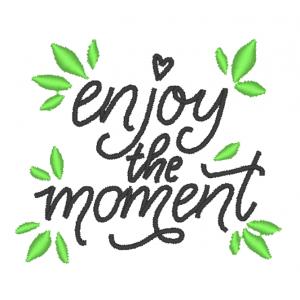"""Вышивка """"Enjoy moment"""""""