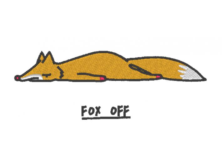 "Вышивка ""Fox off"""