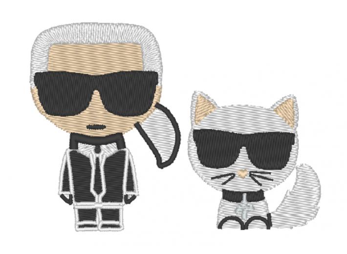 """Вышивка """"Карл и кот"""""""