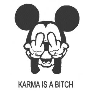 "Вышивка ""Karma is a bitch"""
