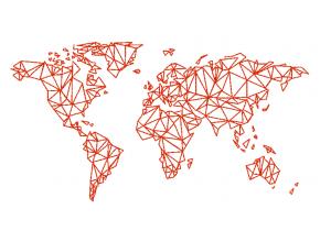 """Вышивка """"Карта мира(прямая)"""""""