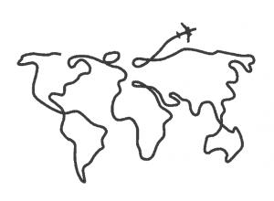 """Вышивка """"Карта мира"""""""