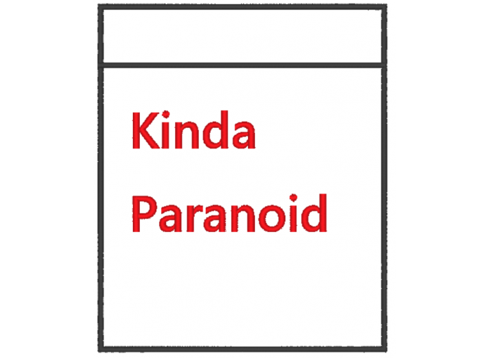 "Вышивка ""Карман Kinda Paranoid"""