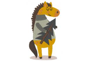 """Вышивка """"Конь с ёлкой"""""""
