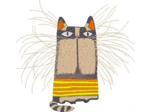 """Вышивка """"Котик с усами"""""""