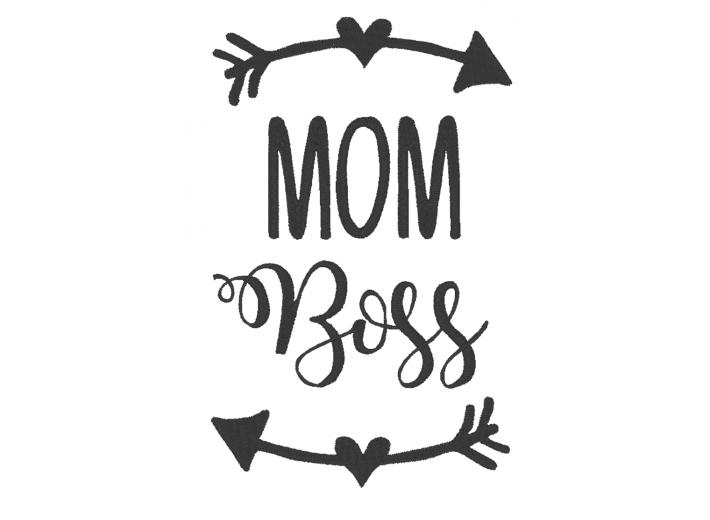 """Вышивка """"Mom boss"""""""