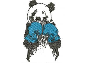 """Вышивка """"Панда в боксерских перчатках"""""""