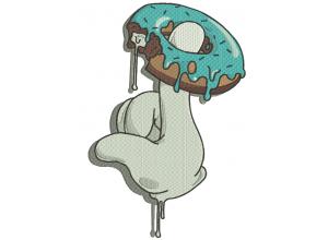 """Вышивка """"Пончик"""""""
