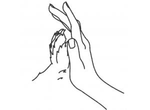 "Вышивка ""Рука и лапа"""