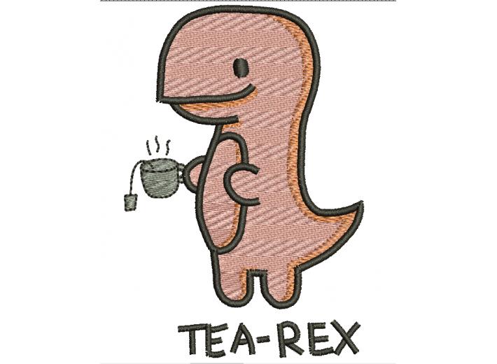"Вышивка ""Tea-rex"""