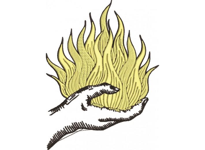 """Вышивка """"Burning Hand"""""""