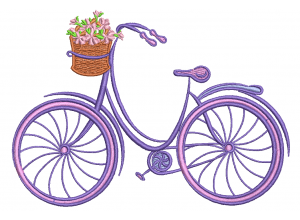 """Вышивка """"Велосипед с цветами"""""""