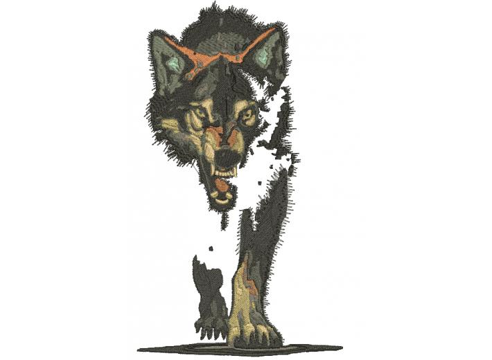 """Вышивка """"Волк"""""""