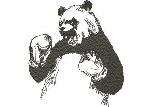 """Вышивка """"Злая панда"""""""