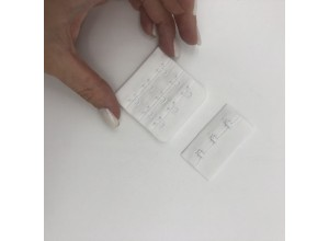 Застежка на три крючка Белая 5 см